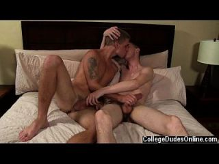 Twink Movie Trent Commences To Jerk Himself Off As He Eats And