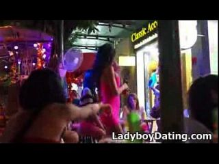 Thailand Ladyboy Street Bar Bangkok 2014