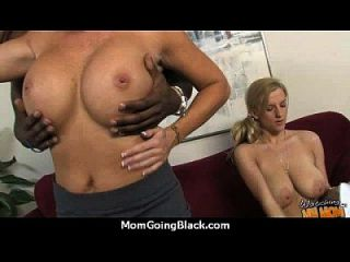 Monster Black Cock Bangs My Moms White Pussy 15