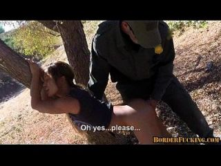 Hot Brunette Mexican Girl Gets Caught And Fucked By Border Patrol 1 2