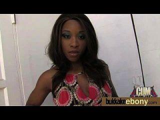 Ebony Gets Group Cumshots 10