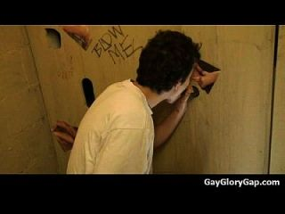 Gloryholes And Handjobs - Gay Wet Blowjobs Through A Hole 21