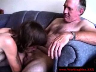 Grey Haired Old Fart Sucking On A Dick