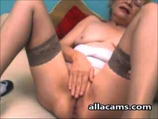 Horny Granny Amateur Model Makes Webcam At Home!