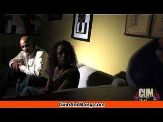 Ebony Girl Gets Slammed By Some White Dudes 22