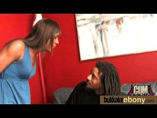 Hot Ebony Chick In Interracial Gangbang 19