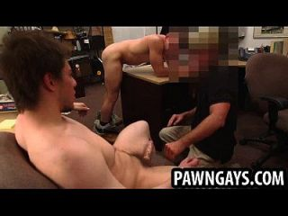 Amateur Hunk Getting Double Teamed At The Pawn Shop