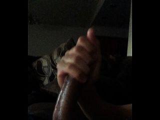 Stroking Big Amatuer Cock