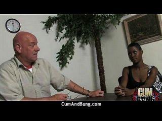 Interracial Group Blowjob From A Ebony Slut 10