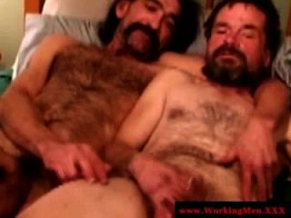 Redneck Straight Bear Gets A Nice Facial