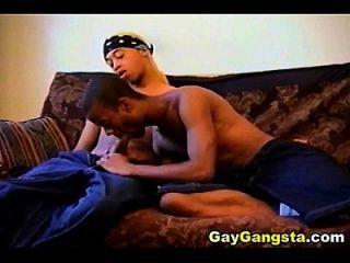 Intense Anal Fucking With Horny Ebony Gay Gangsta