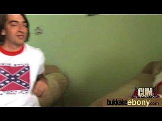 Ebony Babe Sucks Group Of White Guys 10