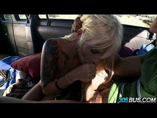 Amateur Blonde Banged On The Bus 2.3