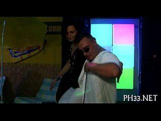 Trickling Muff On The Dance Floor