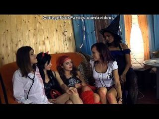 Horror Theme Party With Naughty College Girls Scene 1