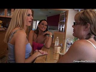 Lucky Dude Gets Fucked By 3 Hot Horny Milfs!
