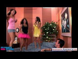 Hot Brunettes Mariah Milano, Rachel Roxxx And Rachel Starr Fuck A Dude