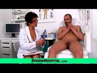 Busty Milf Doctor Greta Sexy Uniform And Wankjob
