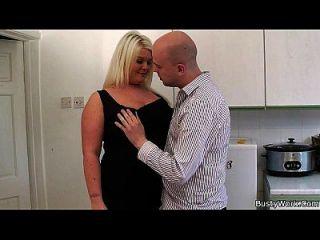 Lovely Blonde Plumper Rides Boss Cock
