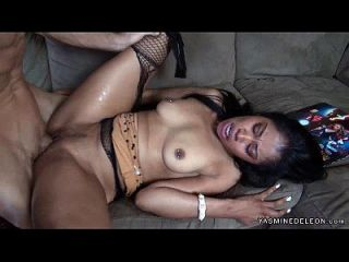 Yasmine De Leon Takes A Hard White Cock
