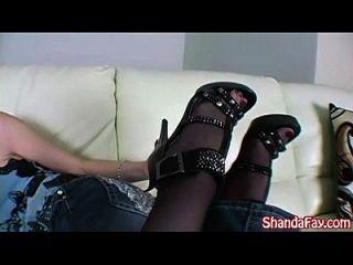 Kinky Canadian Milf Shanda Fay Gives Sexy Footjob!