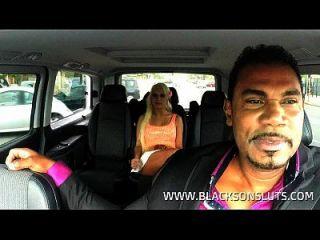 Black Cab Driver Fucks German Slut