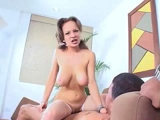 Latina Big Natural Tits Bouncing