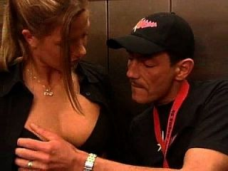 German Blonde Very Hot Fucking In The Elevator