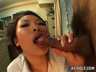 Asian Babe Masturbates First Then Suck It Second