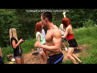 Filthy College Sluts Turn An Outdoor Party Into Wild Fuck Fest Scene 2