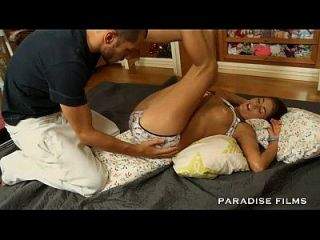 Paradise Films Gorgeous Teen Gets A Moustache