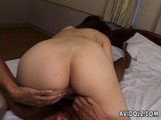 Asian Hairy Gash Gets To Be Fucked In Close Up