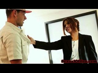 Office Secretary Isabella De Santos Jizzed On