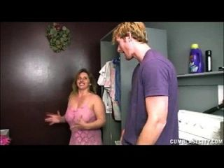 Busty Teen Handjob In The Laundry Room