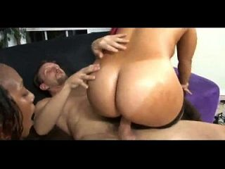 Two Big Black Asses For 10 Inch Big White Cock