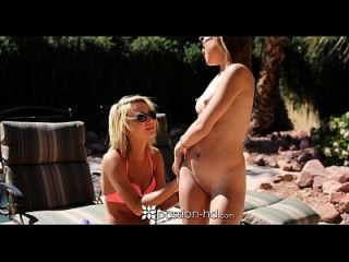Passion-hd - Two Hot Teens Have Threesome By The Pool