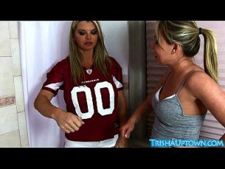 Sexy Trisha Uptown Takes Slutty Shower With Vicky Vette!