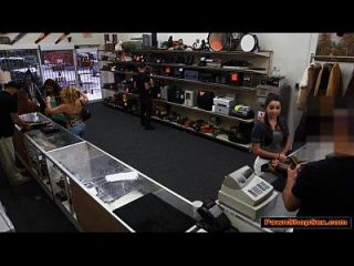Busty Karlee Agrees To Fucks Pawnshop Owner For Extra Cash