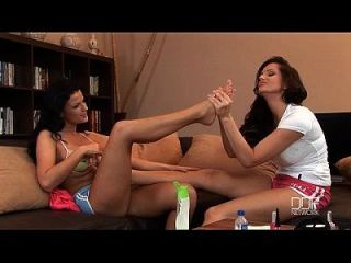 Hungarian Honey Fuck And Suck Each Others Toes Till Climax.