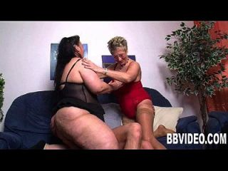 Mature German Bitches Fucked In Threesome