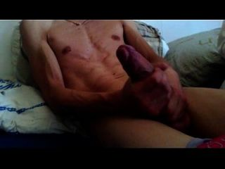 Stroking Big Cock With Cumshot