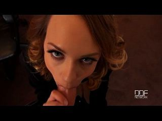 Blue Angel Sucks Her Bosses Cock Cums Hard On His Fingers