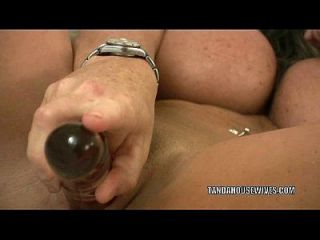 Busty Milf Kasey Taylor Plays With Her Big Glass Dildo