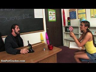 Slutty Schoolgirl Fucks Her Teacher For Good Grades!