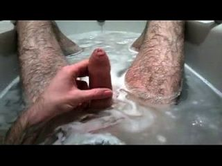 Stroking In Bath With Cum Shot