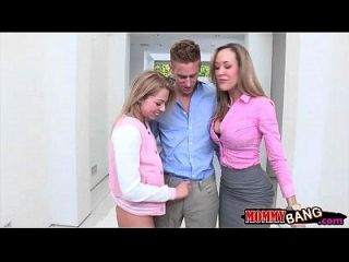 Stepmom Brandi Love Hot Threesome Action With Zoey Monroe