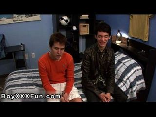 Gay Video Leon Cums While Getting His Bum Banged Hard! He Later Gets