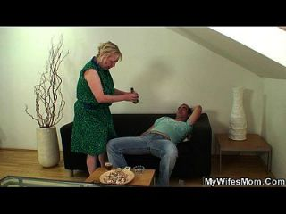 Busty Motherinlaw Jumps On His Cock