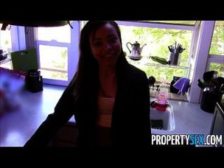 Propertysex - Hot Black Real Estate Agent Tricked Into Fucking