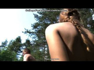 Real Wild College Fucking By The Lake Scene 3